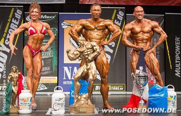 Les trois gagnants de la compétition organisée à Hambourg ce week-end (Alexandre Piel à droite). - www.posedown.de
