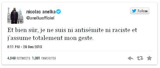 tweet Anelka
