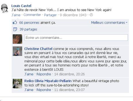Les commentaires sont déjà encourageants pour Louis Castel sur Facebook (capture d'écran). - Facebook