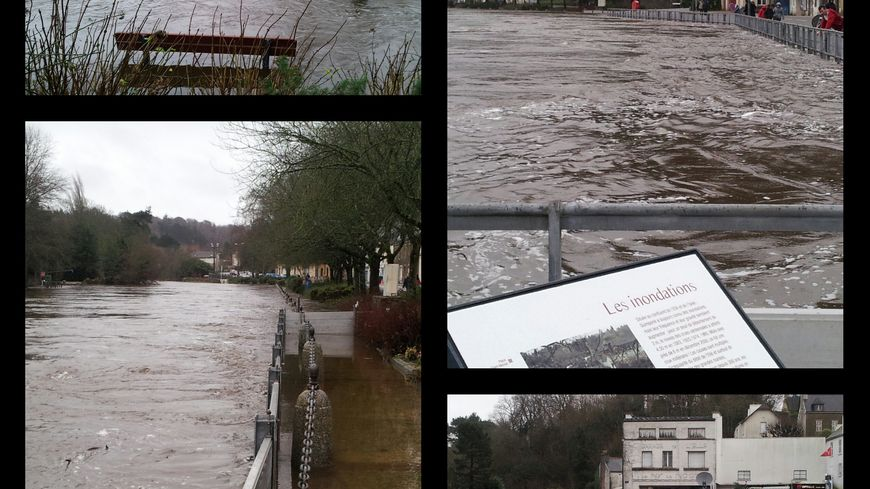 Inondations à Quimperlé