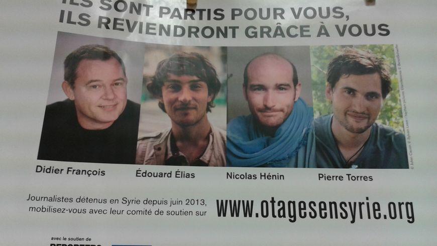 L'affiche de soutien aux otages