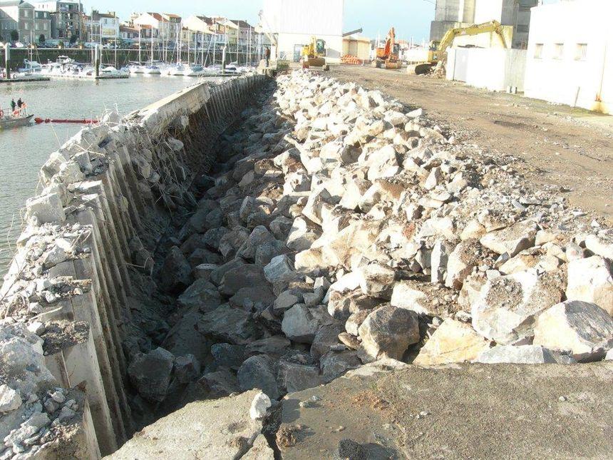 Le quai des Sables d'Olonne après la grandes marée