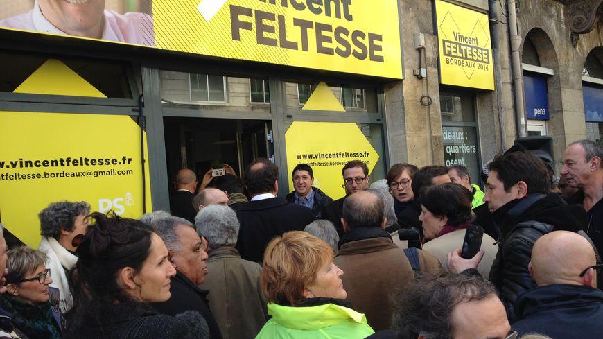 Permanence de campagne de Vincent Feltesse à Bordeaux