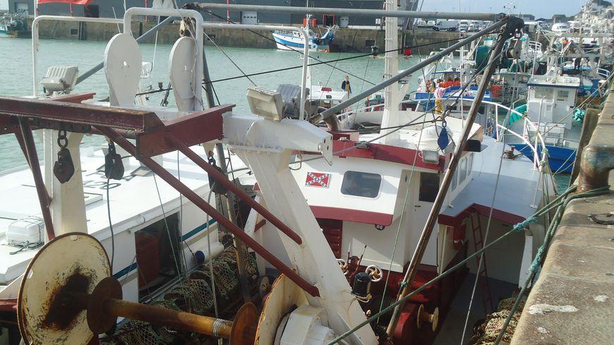 Un bateau de pêche à Granville