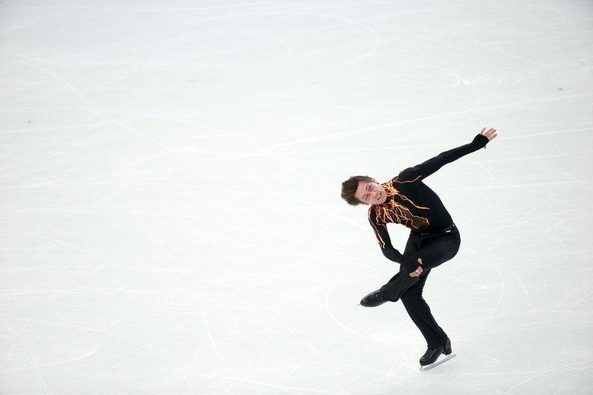Le patineur Brian Joubert lors de son programme court - Maxppp