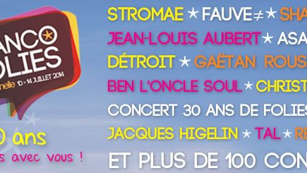 Affiche Francofolies 2014
