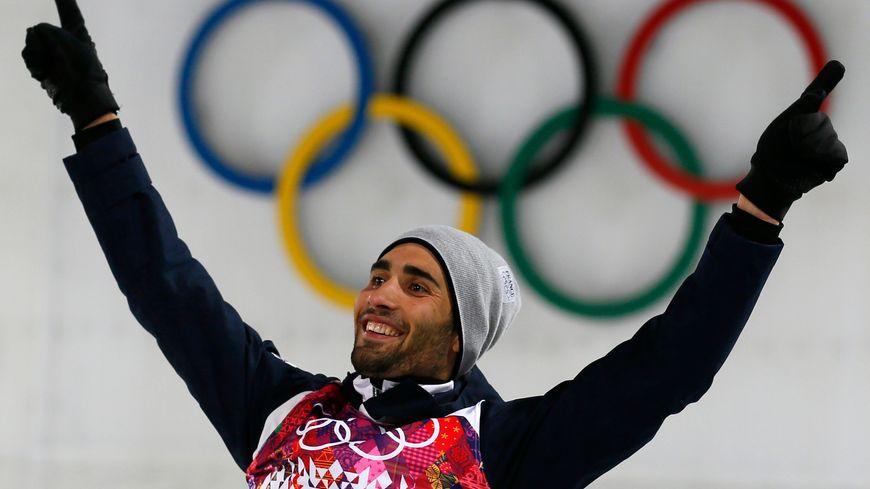 Martin Fourcade, sacré champion olympique de la poursuite et du 20 km individuel