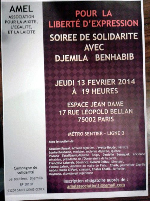 Pour la liberté d'expression - Djemila Benhabib