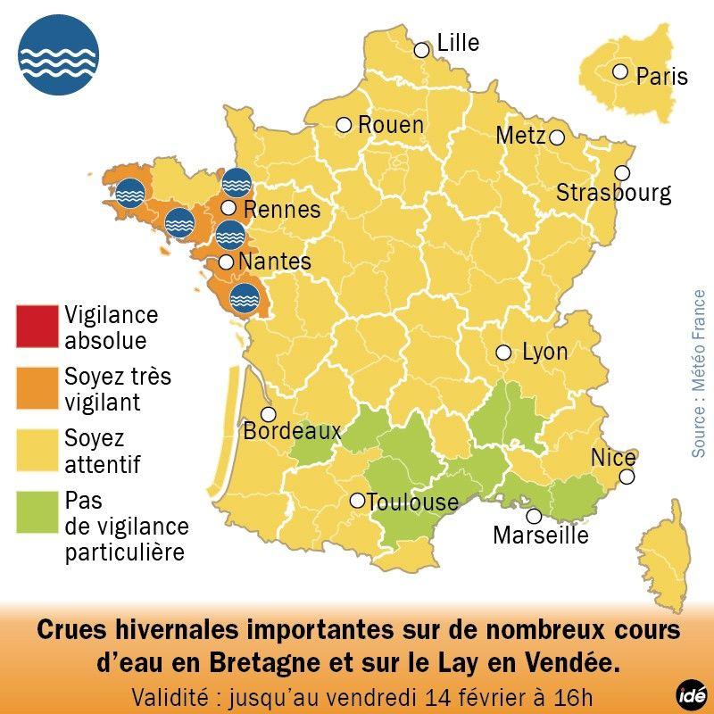 Carte de Météo France - IDÉ