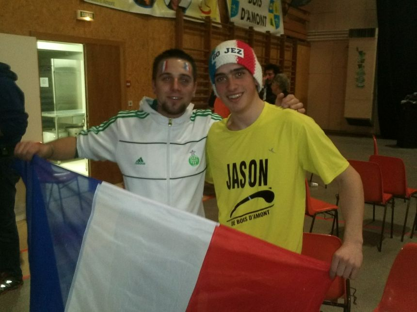 Reportage avec les fans de Jason Lamy Chappuis à Bois d'Amont 3. - Radio France