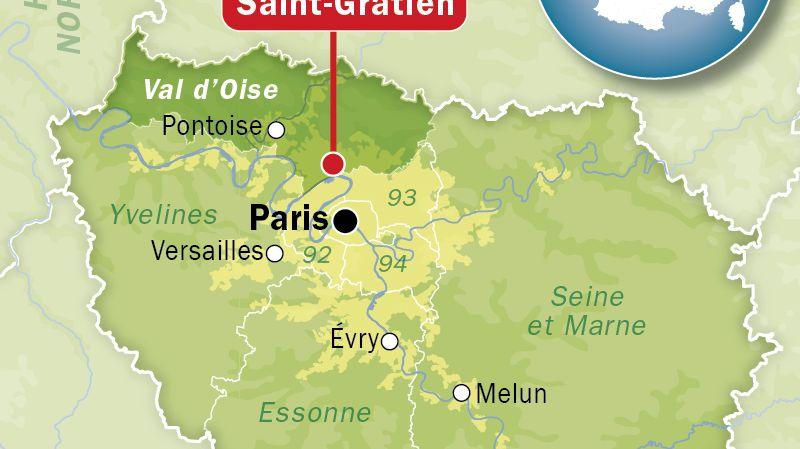 Carte de localisation de Saint-Gratien (Val-d'Oise)