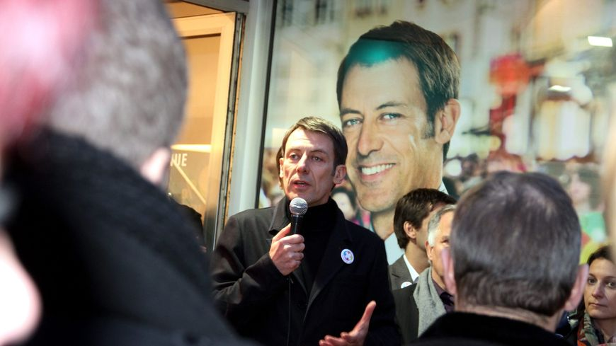 Inauguration du bureau de campagne de Bertrand Mertz, le maire de Thionville, le 18 janvier 2014.