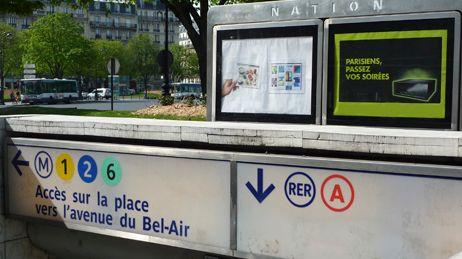 Entrée RER A Paris