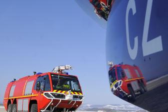 Sécurisation du vol avec les pompiers.