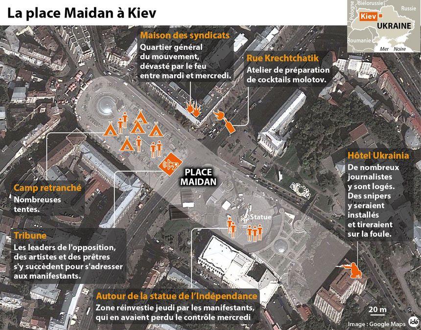 Affrontements en Ukraine : place Maidan - IDÉ