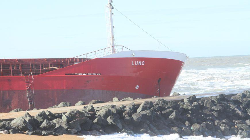 Le cargo espagnol Luno, le vendredi 7 février.