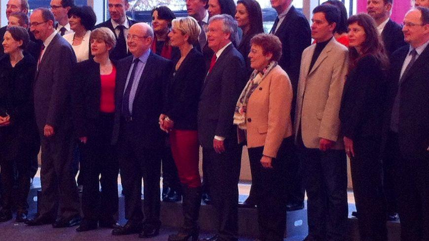 Jean Germain, entouré de ses collistiers. Pascal Ménage, troisième à droite.