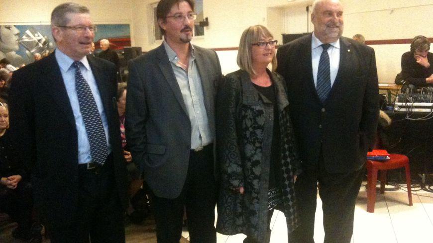 Les quatre candidats à la mairie de Boucau.