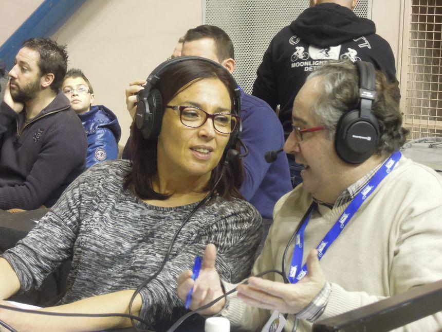 Nelly Fargues et Alain Dufau, commentateurs - Radio France