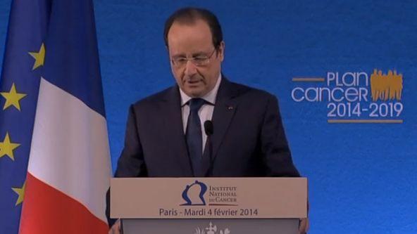 François Hollande, le 4 février lors de la présentation du 3e plan cancer