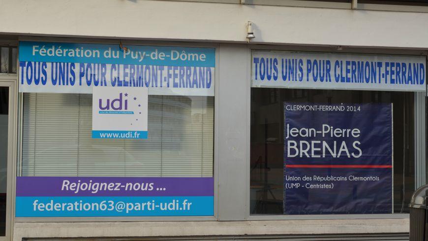 Dans la vitrine de la fédération UDI à Clermont-Ferrand.