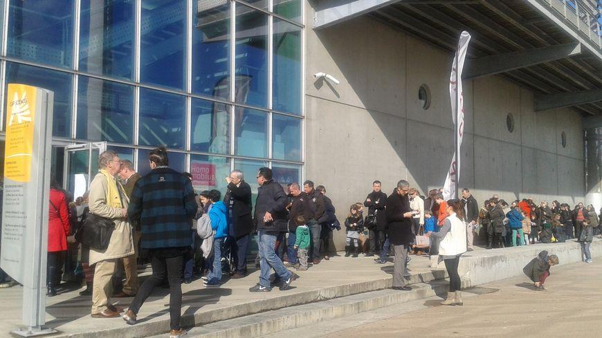 Il a fallu souvent faire la queue durant les vacances pour découvrir l'exposition T-Rex.