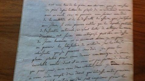 La lettre de Robespierre