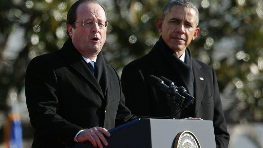 François Hollande et Barack Obama à Washington.