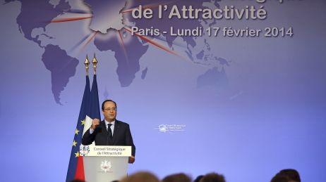 François Hollande en mode commercial, au Conseil de l'attractivité de la France