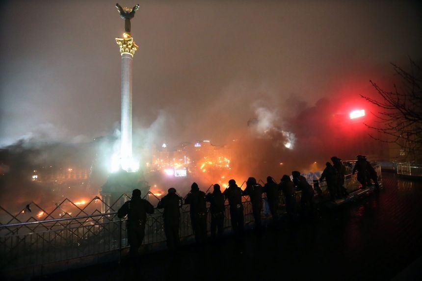 Les affrontements sur la place Maïdan, à Kiev - MaxPPP