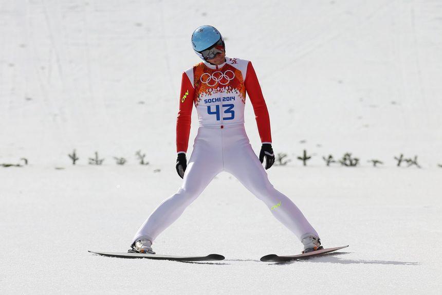 Jason Lamy Chappuis a vécu un calvaire lors de l'épreuve de ski de fond du combiné nordique - Maxppp