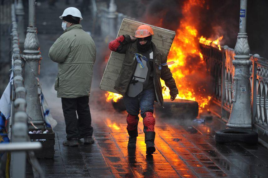 Les manifestants de la place de l'Indépendance à Kiev ont repris la totalité des lieux - MaxPPP