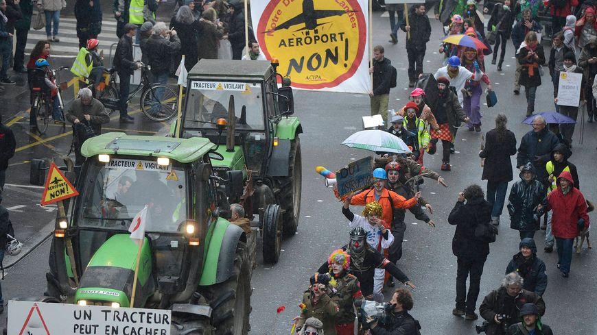 Les écologistes ont manifesté en nombre ce 22 février contre le projet d'aéroport de Notre-Dame-des-Landes