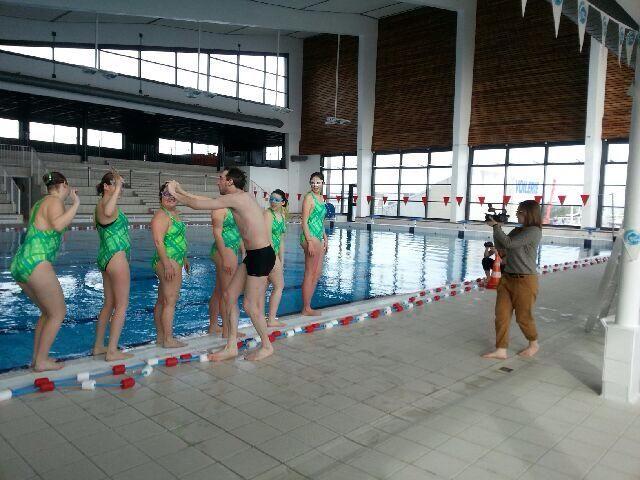 Le tournage du clip à la piscine Chantereyne à Cherbourg - Anne Gaudaire