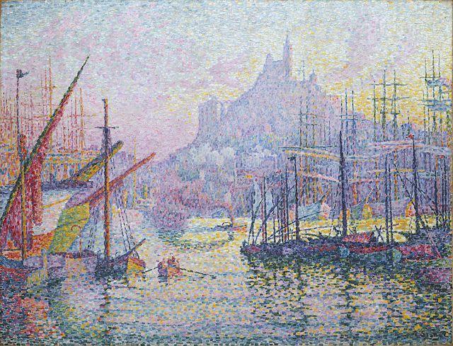 Vue du port de Marseille, Paul Signac, 1905
