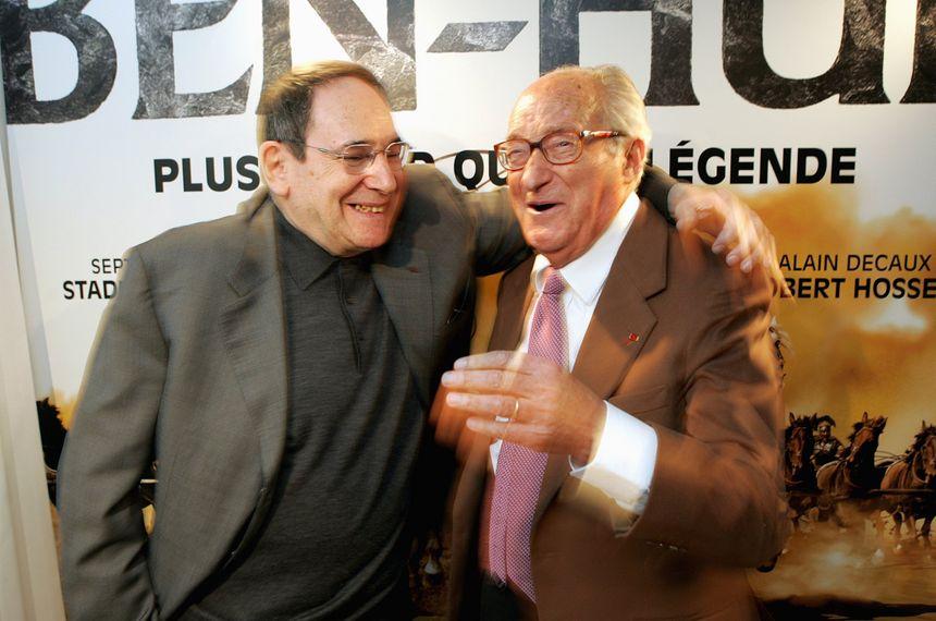 Alain Decaux - Nécrologie - avec Robert Hossein à Lille pour présenter Ben Hur - Max Rosereau - MaxPPP