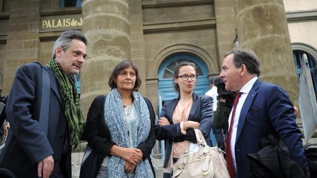 A la cour d'assises du Puy-en-Velay, Frederic et Paola Marin, les parents d'Agnès avec maître Szpiner