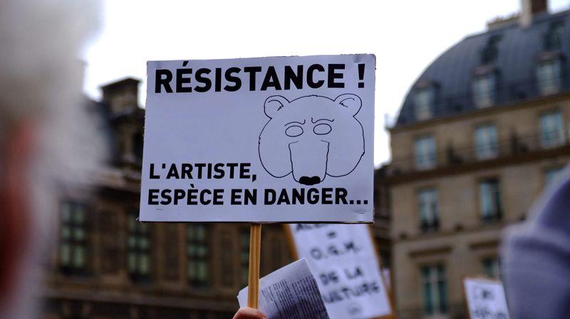 Manifestation des intermittents du spectacle à Paris en octobre 2013