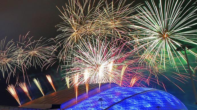Le stade olympique Fisht où se déroulera la cérémonie d'ouverture des JO de Sotchi