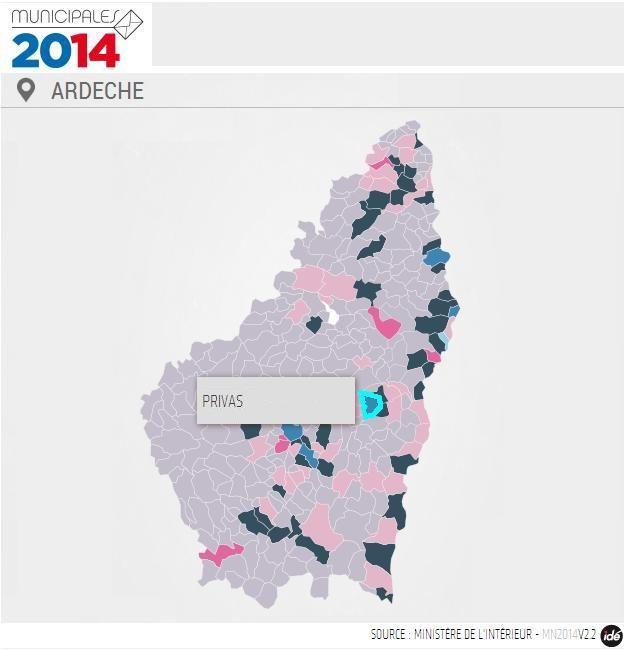 Michel Valla, l'ancien Maire, revient à la mairie de Privas avec 52,54%. - IDÉ