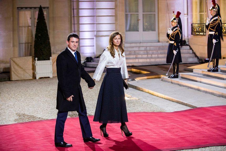 Manuel Valls et son épouse Anne Gravoin - MaxPPP