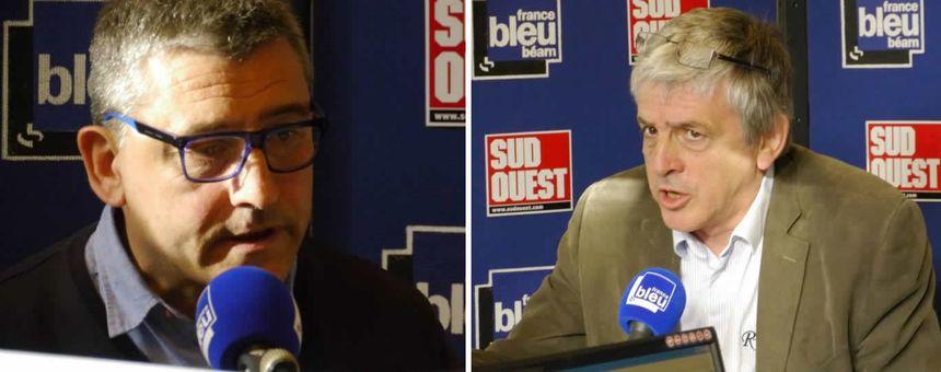 Municipales : Hervé Lucbéreilh, candidat Divers droite, et Bernard Uthurry, maire socialiste sortant d'Oloron - Radio France