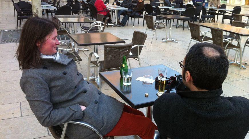 Ça sentait bon le printemps vendredi sur les terrasses du centre de Valence