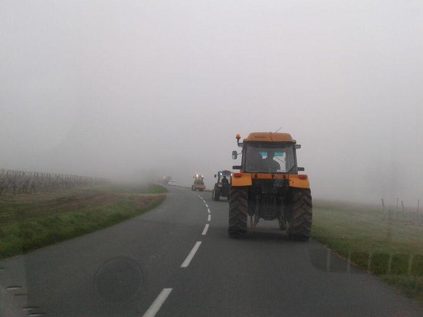 En route pour la manifestation de Libourne - Radio France