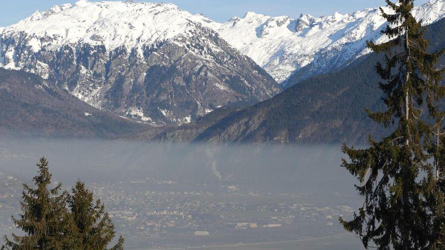 Sallanches, dans la vallée de l'Arve.