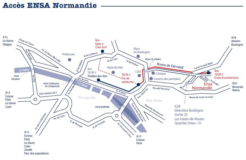 ENSANormandie plan d'accès -  ENSA Normandie