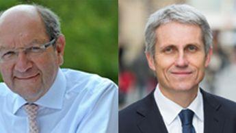 Philippe Duron et Joël Bruneau, les deux candidats du second tour des municipales à Caen.