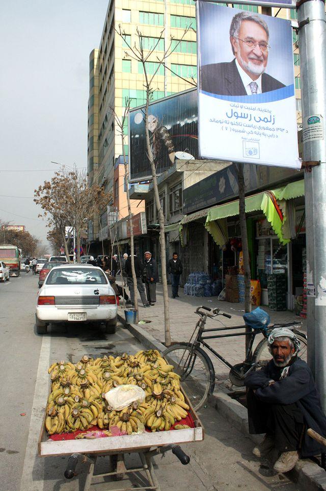 Affiche élections présidentielles (Afghanistan)