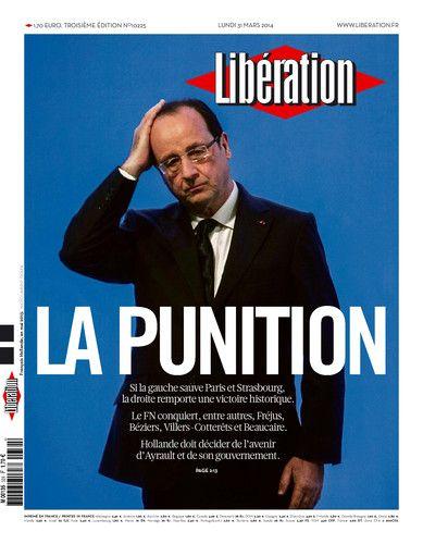 La une de Libération du lundi 31 mars 2014 - capture d'écran