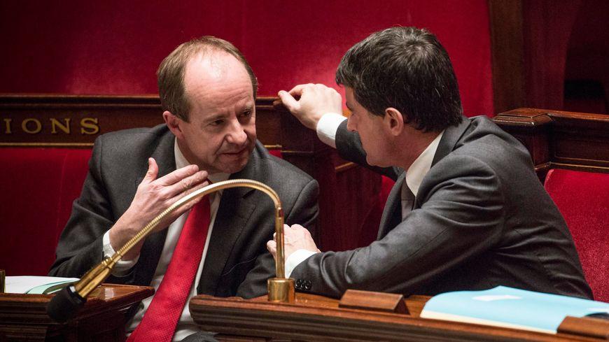 Jean-Jacques Urvoas et Manuel Valls, en janvier 2014